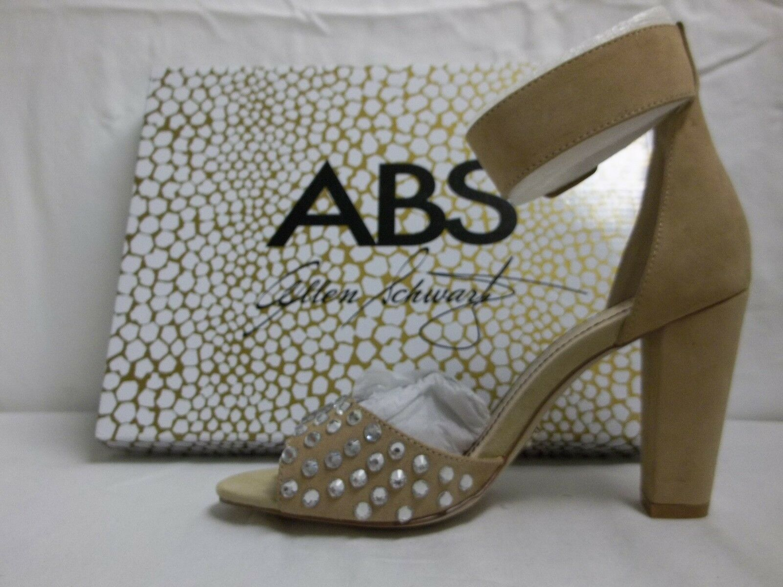 ABS By Allen Schwartz Größe 6 M Divia Bone Suede Heels NEU Damenschuhe Schuhes