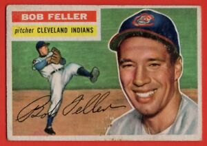 1956-Topps-200-Bob-Feller-VG-VGEX-MARKED-Cleveland-Indians-FREE-SHIP