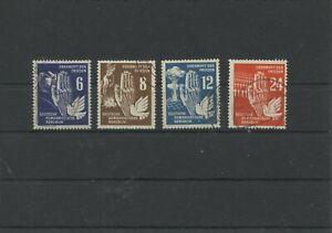 Germany-GDR-vintage-yearset-1950-Mi-276-279-Postmarked-Used-More-Sh-Shop-1