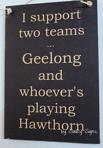 Geelong-v-Hawthorn-Footy-Sign-Bar-Pub-Man-Cave-BBQ-Wooden-Cats-Football-Sign