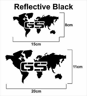 1 X BMW R1200GS GS GSA Sticker - Decal World in many coloures NOW and REFLECTIVE