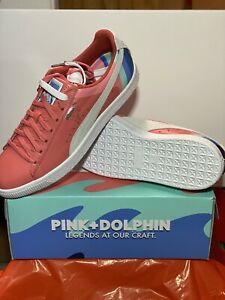 Pink Dolphin X Puma Clyde Sneakers Size