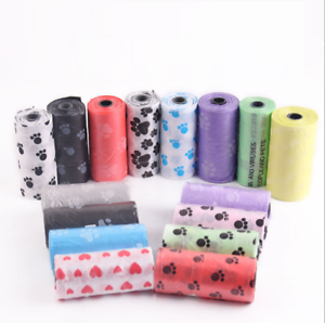 Home & Garden Pet Products 40 Roll Blue Pet Poop Bags Dog Cat Waste Pick Up Clean Bag A Roll Of 15 Bags Hottest Sales