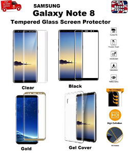 Ultra-Thin-Clear-TPU-Gel-Case-Cover-amp-Tempered-Glass-For-Samsung-Galaxy-Note-8