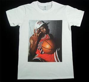 04b4e9d4a75 Michael Jordan White T-Shirt Size S-XXXL Supreme Basketball Bordeaux ...