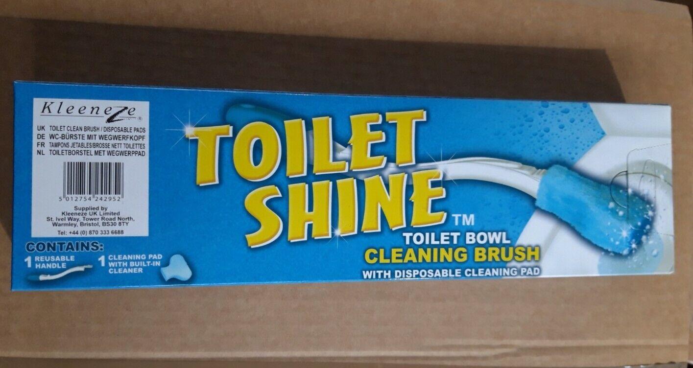(*NEW*) 62x KLEENEZE TOILET SHINE BRUSHES (Toilet Bowl Cleaning Brush) Wholesale