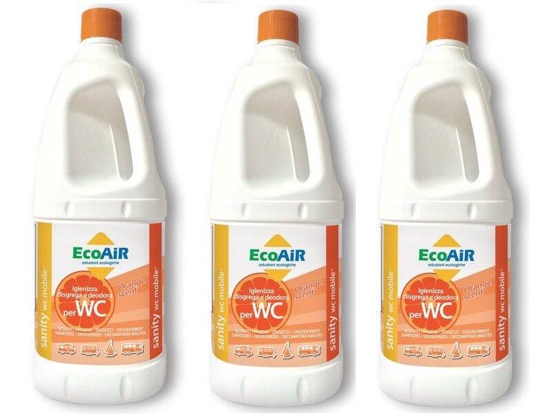 Störende Sanity 2 Liter orange Wc Aque black Camper Aqua Kem 3 Flaschen