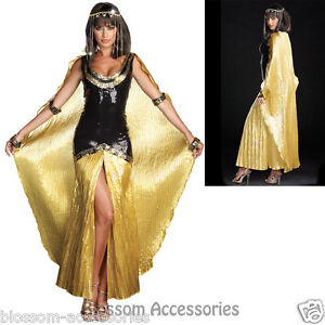J9 Ladies Cleopatra Egyptian Goddess Roman Fancy Dress Halloween ...