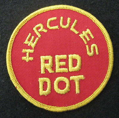 Vintage Hercules Red Dot Advertising Embroidered Sew On Patch