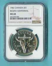 CANADA $1 1982 REGINA CENTENNIAL NGC MS-68  ALL PCKG INC
