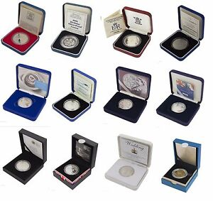 SILVER-PROOF-FIVE-POUND-5-COINS-ROYAL-MINT-BOXED-AND-COA-CHOICE-OF-DATE