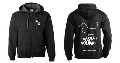 Ambitious Basset Hound Full Zipped Dog Breed Hoodie Last Style Exclusive Dogeria Design