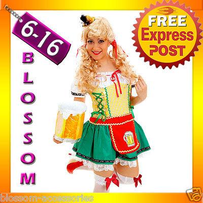 G47 Ladies Oktoberfest German Bar Beer Maid Wench Fancy Dress Costume Outfit