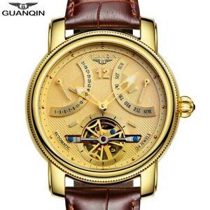 GUANQIN-New-Luxury-Automatic-Tourbillon-Sapphire-Crystal-Calendar-Men-039-s-Watch