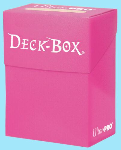 Ultra Pro DECK BOX BRIGHT PINK Card Holder NEW Standard Small Size Storage MTG