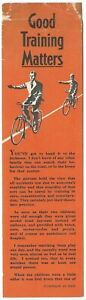 Vintage-Book-Mark-ROSPA-CYCLE-TRAINING-Cycling-Proficiency-Test-accidents