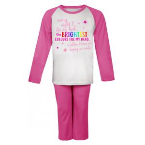 7f316391cf8d Brightest Colours Fill My Head Girls Pyjamas Greatest Showman Kids ...