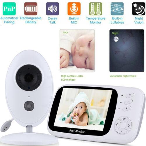 "2.4/"" 3.5/"" Video Baby Monitor Digital LCD Wirless Camera Night Vision Audio 2.4G"