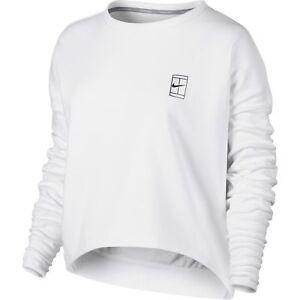 Nike Gr. M 38 Damen Langarmshirt Sport Fitness Pullover Weiß