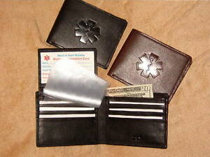 Bifold-Flip-ID-leather-Medical-Wallet-with-medical-symbol-amp-photo-holder