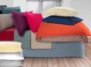 Luxury-100-Egyptian-Cotton-200-Thread-Percale-Plain-Pillowcases-Pillow-Case-Pair