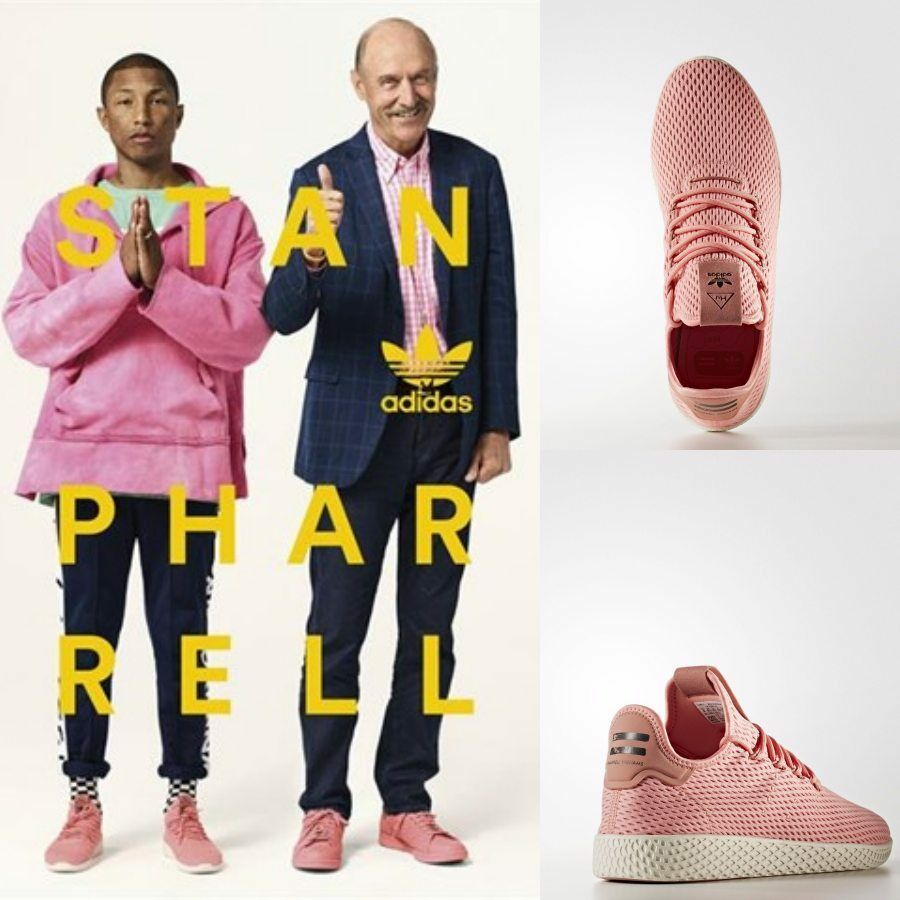 Adidas x Pharrell Williams PW Tennis HU Unisex Running Pink BY8715 Size 4-11
