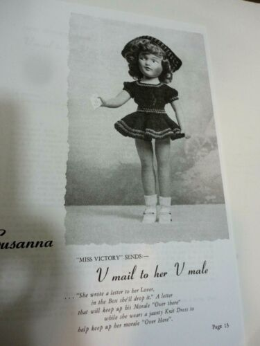"""Group of 7 Mary Hoyer 14/"""" Vintage Knitting Pattern Doll Clothes Reprints"""