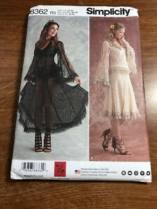 Simplicity-Pattern-8362-Western-Bridal-Vintage-Lace-Blouse-Skirt-14-16-18-20-22