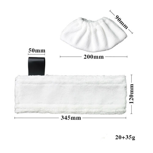 Mop Floor Cleaner Steam Pad Cloth Cover White For Karcher SC5 SC4 SC3 SC2 Steam