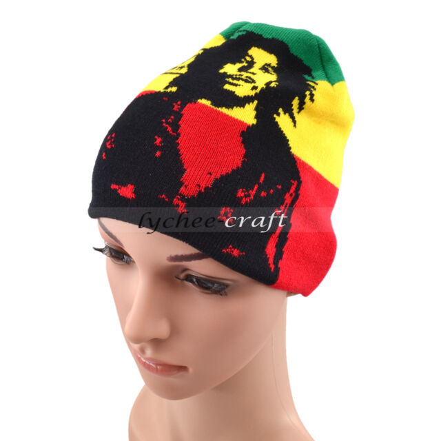 Bob Marley Jamaican Knitted Hat Cap Hip Hop Hedging Beanie Fashion Fans Gift 16bcc29ff75