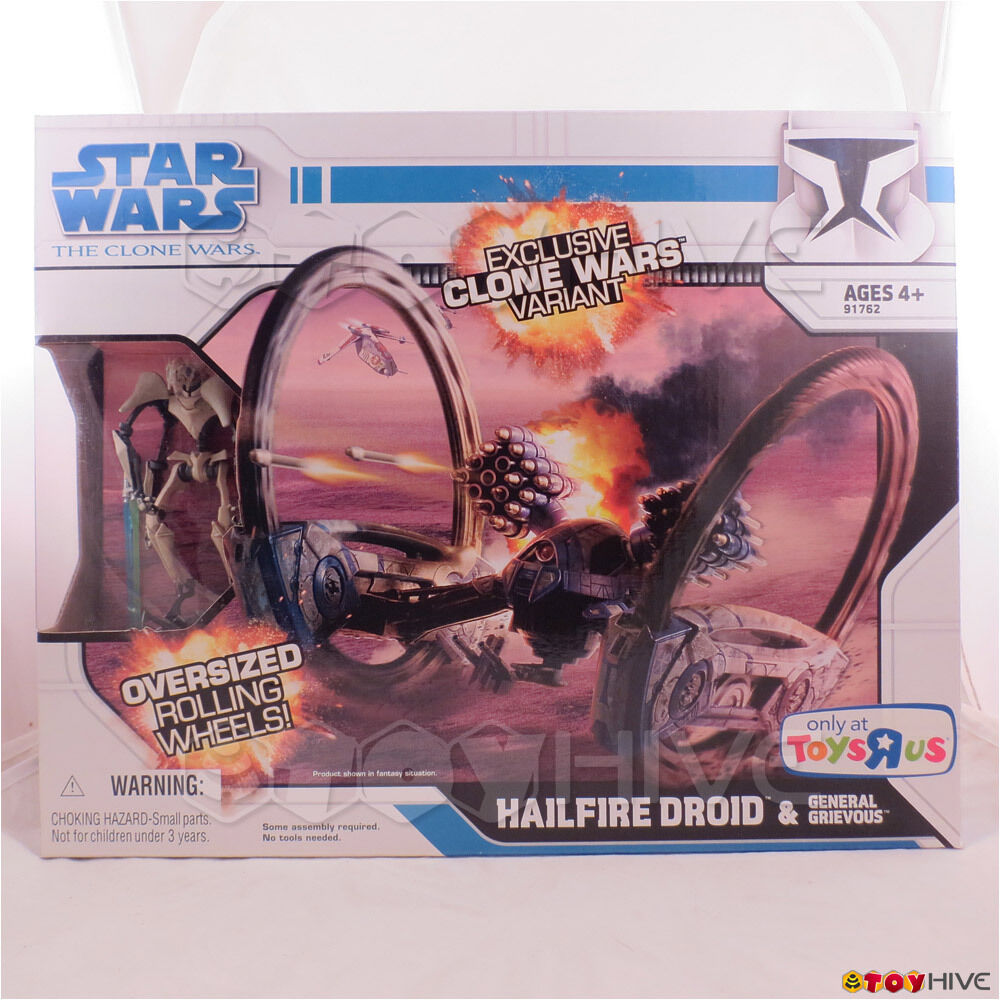 Star Wars The Clone Wars Variant Variant Variant - Hailfire Droid with General Grievous figure 67cd82
