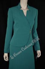 TAHARI Women Skirt Suit SIZE 12 EMERALD GREEN Two-Piece Dressy NEW$280 LBCUSA