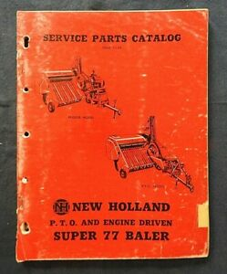 1956-NEW-HOLLAND-034-SUPER-77-PTO-amp-ENGINE-DRIVEN-BALER-034-PARTS-CATALOG-MANUAL