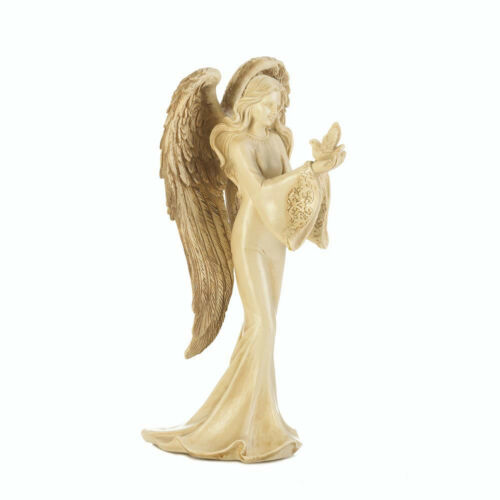 """Beautiful Angel Carrying A Dove Peace Figurine 8/"""" Tall Statue NEW ANGELS"""