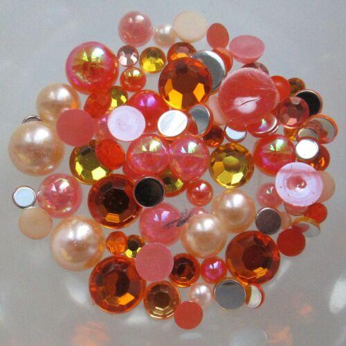 10g Mixed Flat Back Pearl AB and Rhinestone Embellishments Buy 4 get 4 Free
