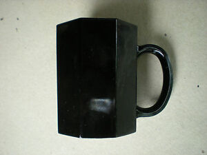 Details about Vintage Set of 2 Arcoroc Black Glass Octagon Coffee Mugs Cups Made in France