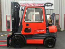 1997 Toyota 52 6fgu30 6000lb Pneumatic Tire Forklift With Full Cab And Heater