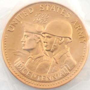 1975 U S  Bicentennial Army Bronze Medal 3