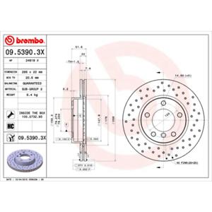 Bremsscheibe 2 Stück BREMBO XTRA LINE Brembo 09.5390.3X