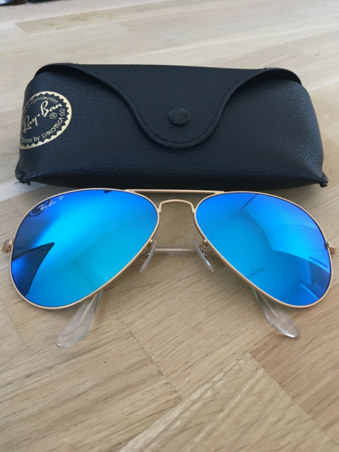 Solbriller unisex, Ray-Ban, Aviator polarized flash linse.…