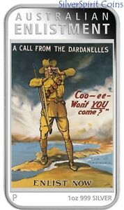2014-POSTERS-OF-WORLD-WAR-1-CALL-FROM-THE-DARDANELLES-Silver-Proof-Coin