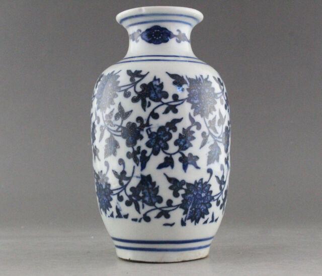 Rare Blue And White Porcelain Flower Vase Of Chinese Antique Ebay
