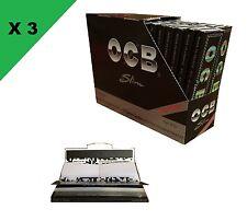 OCB Slim + filtre, cale carton 3 boite de 32 carnets de feuille à rouler longue