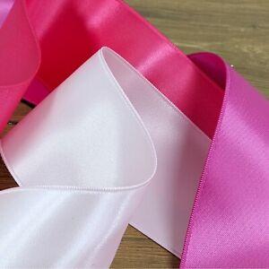 Beautiful Quality Double Sided Satin Ribbon Cerise 3mm-50mm Wide Plain Per 1M