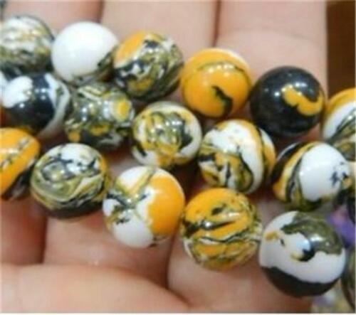 """10mm Multicolor Turkey Turquoise Round Gemstone Loose Beads 15/"""" ##ZY087"""