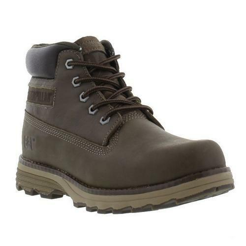Caterpillar Founder Mens Wide Fit Brown Leather Cat Ankle Boots Size UK 6