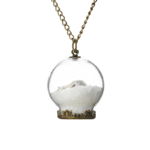Collier Séché  Fleur Verre Chaîne Sautoir pendentif globe verre Bronze bracelet