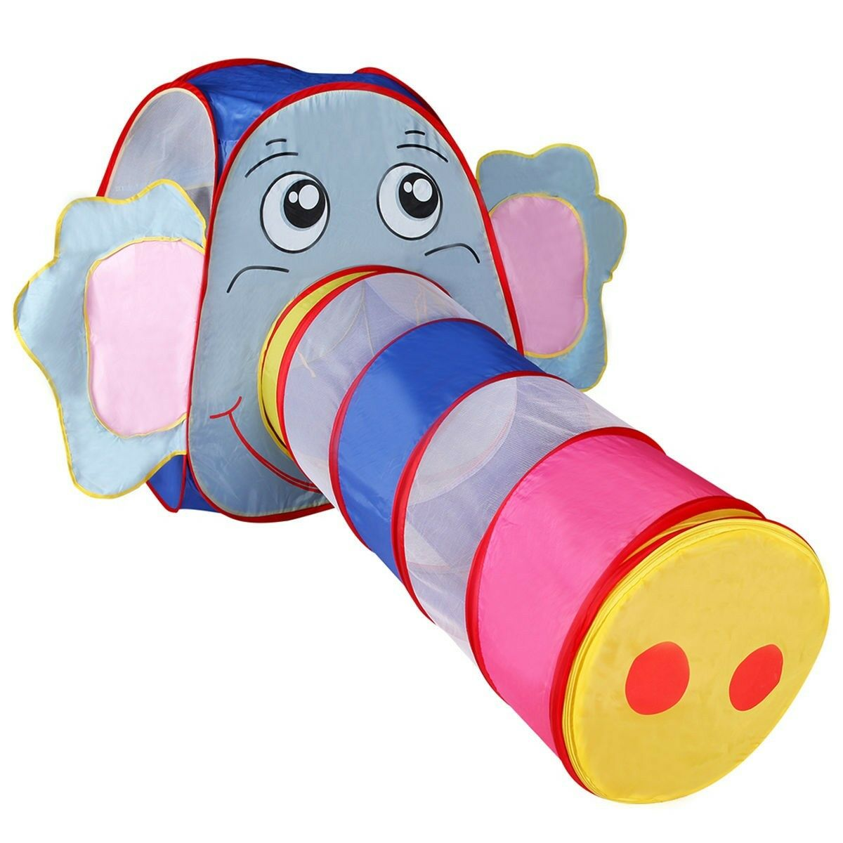Foldable Elephant Tunnel Kids Play Tent Tent Tent Play Game Room 65.4  x 28.7  x 32.7  US 4f02e5