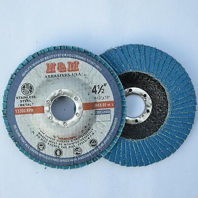 "Premium Zirconia FLAP DISCS 6/"" x 7//8/"" 60 grit Grinder Grinding tool 5-Pack"