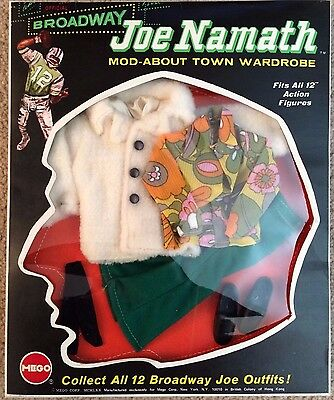 Joe Namath Mego Mod-About Town Wardrobe, 1970 Great Condition, Unopened in Box